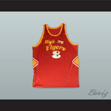 1978 High Flyers 8 Red Basketball Jersey