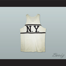 1920-21 New York Whirlwinds 9 White Basketball Jersey