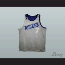 1969 Rucker Park NYC 7 Gray Basketball Jersey