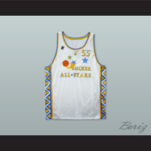 1996 Style Rucker All Stars 55 White Basketball Jersey
