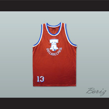 1974 Rucker Park Philadelphia 13 Red Basketball Jersey