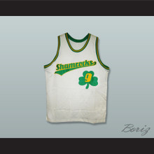1972 Rucker Park Shamrocks 9 White Basketball Jersey