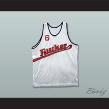 1977 Rucker Park 6 White Basketball Jersey