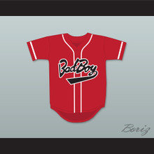 Biggie Smalls 10 Bad Boy Red Baseball Jersey
