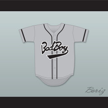 Biggie Smalls 10 Bad Boy Gray Baseball Jersey