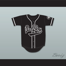 Biggie Smalls 10 Bad Boy Black Baseball Jersey with 20 Years Patch