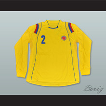 Pablo Escobar 2 Colombia Home Long Sleeve Football Soccer Shirt Jersey