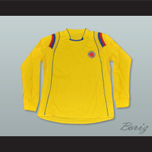 Pablo Escobar 2 Colombia Yellow Long Sleeve Football Soccer Shirt Jersey