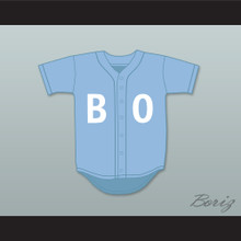 Bo Jackson BO Light Blue Baseball Jersey Sesame Street