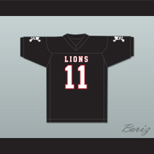 Chad Kelly 11 EMCC Lions Black Football Jersey Includes Patches