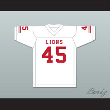 Caleb Grant 45 EMCC Lions White Football Jersey