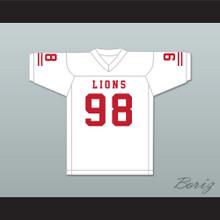 Gary McCrae 98 EMCC Lions White Football Jersey