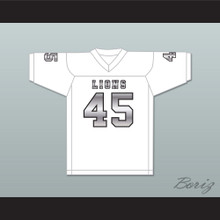 Caleb Grant 45 EMCC Lions White Alternate Football Jersey