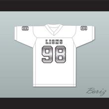 Gary McCrae 98 EMCC Lions White Alternate Football Jersey