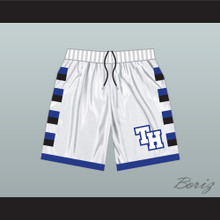 One Tree Hill Ravens White Basketball Shorts TH