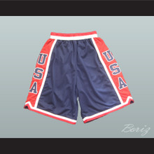 USA Dream Team Basketball Shorts Red and Blue