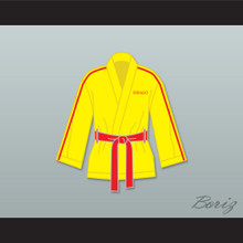 Ivan Drago Russia Yellow Satin Half Boxing Robe
