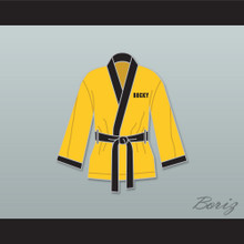 Rocky Italian Stallion Yellow Satin Half Boxing Robe
