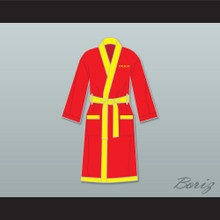Ivan Drago Russian Red Satin Full Boxing Robe