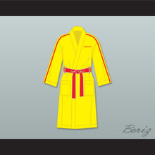 Ivan Drago Russia Yellow Satin Full Boxing Robe
