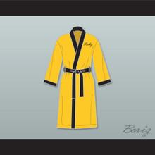 Rocky Balboa Italian Stallion Yellow Satin Full Boxing Robe
