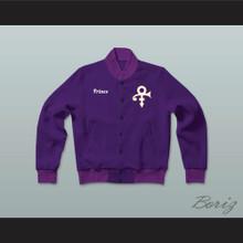 Prince Purple Rain Letterman Jacket-Style Sweatshirt