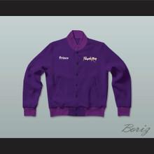 Prince Purple Rain Tribute Letterman Jacket-Style Sweatshirt