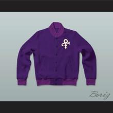Prince Symbol Letterman Jacket-Style Sweatshirt