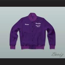 Prince Purple Rain World Tour '84-'85 Letterman Jacket-Style Sweatshirt