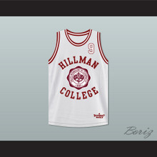 Dwayne Wayne 9 Hillman College Theater White Basketball Jersey  A Different World