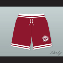 Hillman College Maroon Basketball Shorts with Theater Patch