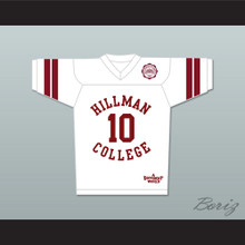 Ronald 'Ron' Johnson 10 Hillman College White Football Jersey with Eagle Patch A Different World