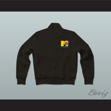 Music Television Black Letterman Jacket-Style Sweatshirt