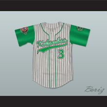 Player 3 Kekambas Pinstriped Baseball Jersey with ARCHA and Duffy's Patches