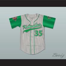 Jefferson Albert Tibbs 35 Kekambas Pinstriped Baseball Jersey with ARCHA and Duffy's Patches