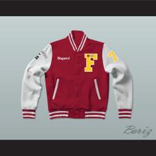 Thomas Shepard High School Basketball Varsity Letterman Jacket-Style Sweatshirt Above The Rim