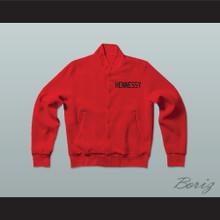 Prodigy 95 Hennessy Queens Bridge Red Varsity Letterman Jacket-Style Sweatshirt