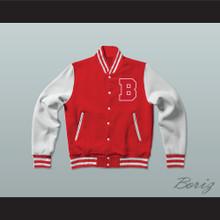 Justin Bieber Believe Red Varsity Letterman Jacket-Style Sweatshirt