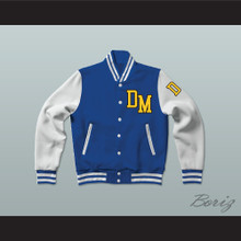 Dirty Money Blue Varsity Letterman Jacket-Style Sweatshirt