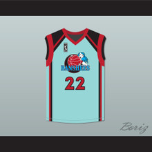 Miguel A. Nunez Jr. Juwanna Mann 22 Charlotte Banshees Home Basketball Jersey with WUBA Patch