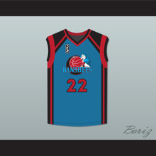 Miguel A. Nunez Jr. Juwanna Mann 22 Charlotte Banshees Away Basketball Jersey with WUBA Patch