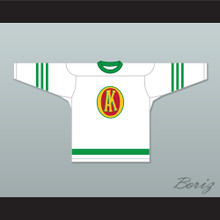 1945-46 Gordie Howe 9 Omaha Ak-Sar-Ben Knights USHL White Hockey Jersey