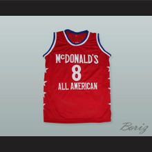 Kobe Bryant 8 McDonald's All American Red Basketball Jersey