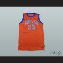 23 Carver High School Basketball Jersey White Shadow