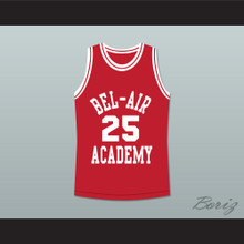 The Fresh Prince of Bel-Air Alfonso Ribeiro Carlton Banks Bel-Air Academy Red Basketball Jersey
