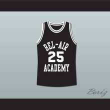 The Fresh Prince of Bel-Air Alfonso Ribeiro Carlton Banks Bel-Air Academy Black Basketball Jersey