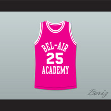 The Fresh Prince of Bel-Air Alfonso Ribeiro Carlton Banks Bel-Air Academy Pink Basketball Jersey