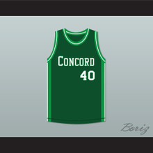 Shawn Kemp 40 Concord High School Minutemen Green Basketball Jersey