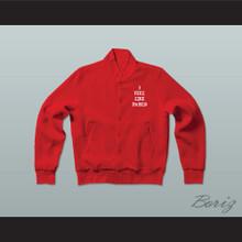 Pablo Escobar I Feel Like Pablo Red Varsity Letterman Jacket-Style Sweatshirt