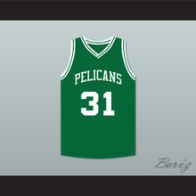 Marcus Stokes 31 Malibu Prep Pelicans Green Home Basketball Jersey